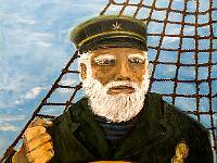 """Sea Captain"" acrylic on 20""x24"" Yup"