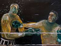 "second-round00448  UnderCard - acrylic on 18""x36"" Yupo"